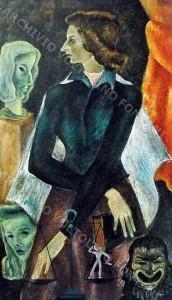 1946-olio su tela-52x97-Ritratto di Piera Pozzi